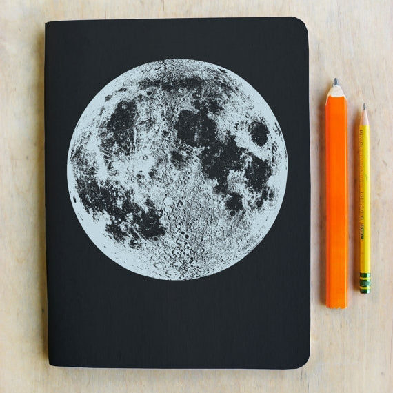 Silver Moon Blank Notebook