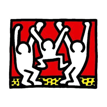 Dance single card by Keith Haring