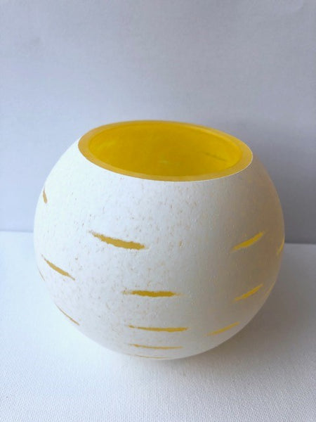 Glass Votive Holder in Yellow by SarahBeth Post