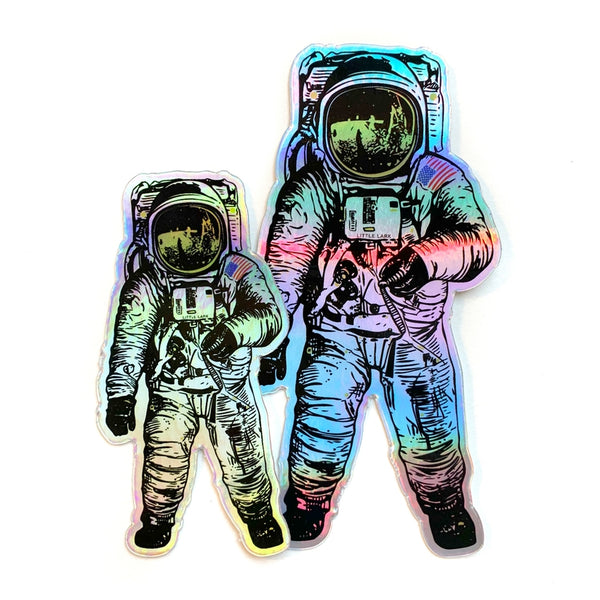 Holographic Astronaut Sticker