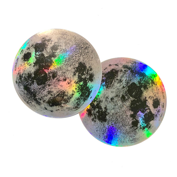 Moon Holographic Sticker