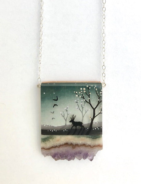 FernWorks Forest and Deer Necklace