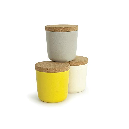 Small Bamboo Storage Jar Set