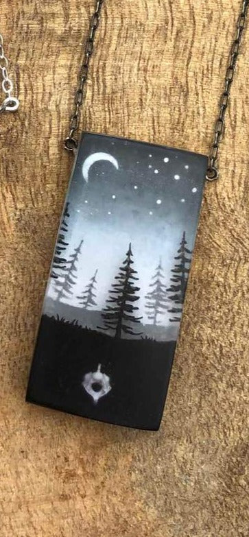 FernWorks Trees with Moon Necklace