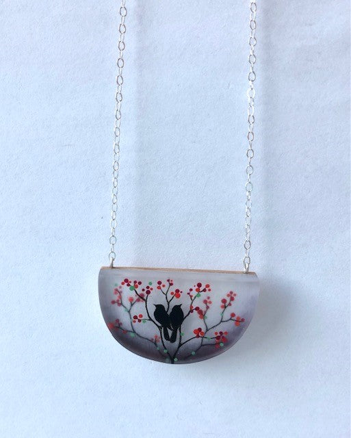 FernWorks Love Birds Necklace