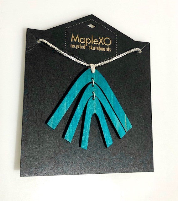 Ocotillo Necklace Made from Recycled Skateboards