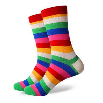 Bubbly Bunch Striped Crew Socks