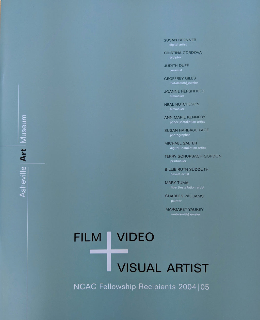 Film Video Visual Artist: NCAC Fellowship Recipients 2004/05