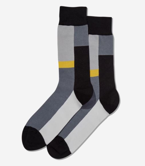 Color Block Stripe Socks, Hot Sox mens