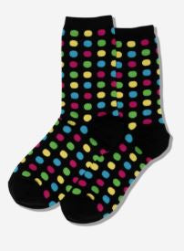 Large Dots Socks, Hot Sox womens