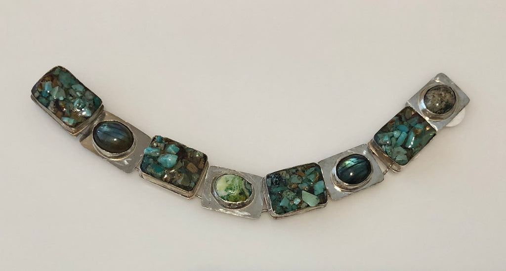 Gemstone Block Bracelet