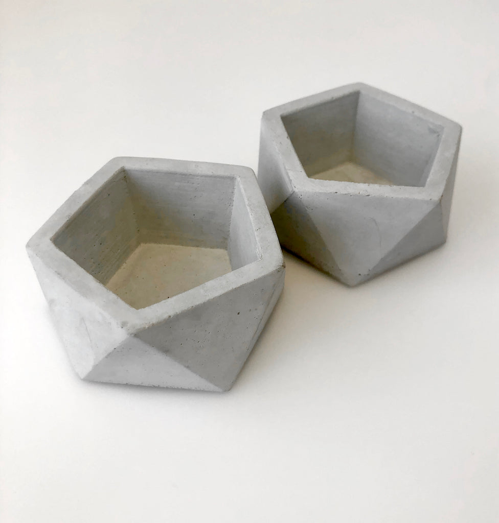 Concrete Planters- Small Set of 2