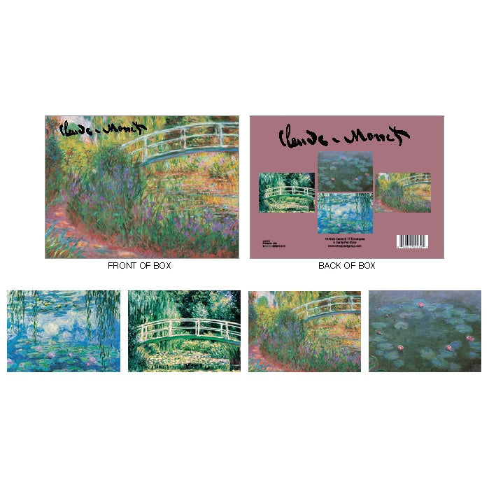 Claude Monet Boxed Notecard Set