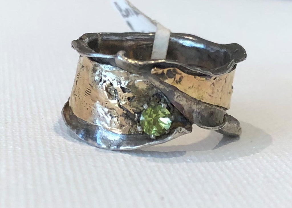 Gold/Silver Peridot Ring