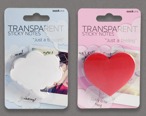 Transparent Sticky Hearts Clouds