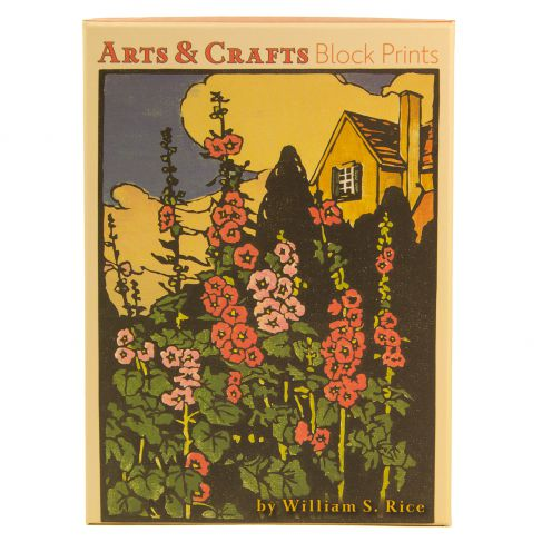 Arts & Crafts Block Prints by W. S. Rice: Boxed Notecards