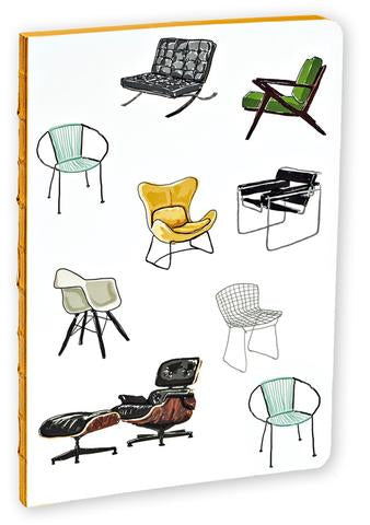 Mid-Century Modern Chair Notebook