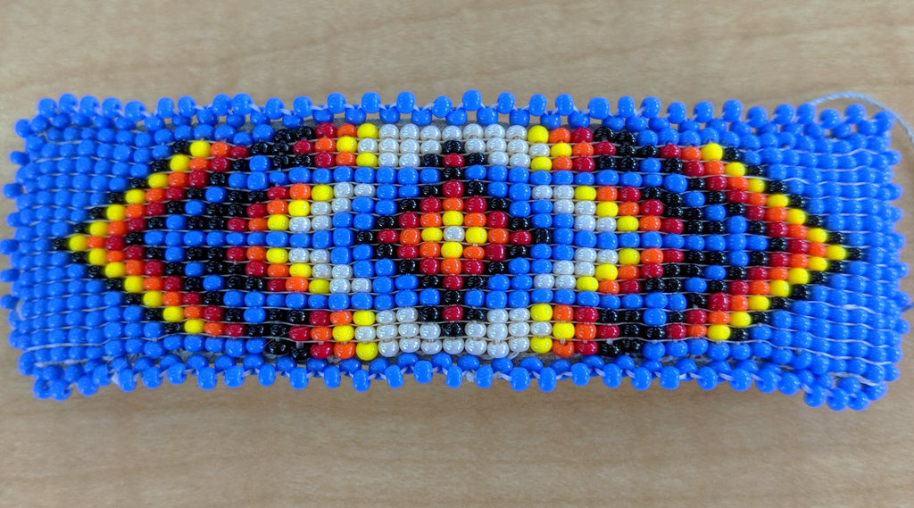 Cherokee Beaded Large Barrette