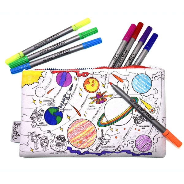 Space Explorer Color in Pencil Case