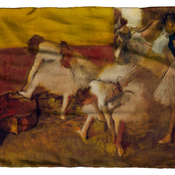 Dancers in The Green Room Scarf by Degas