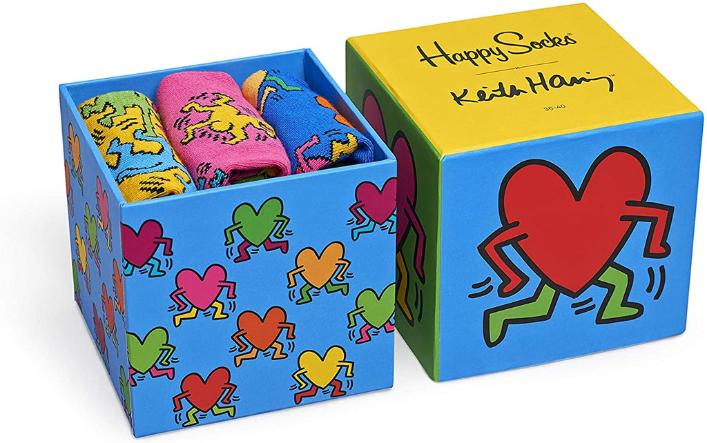 Haring HEART SockBox-Mens