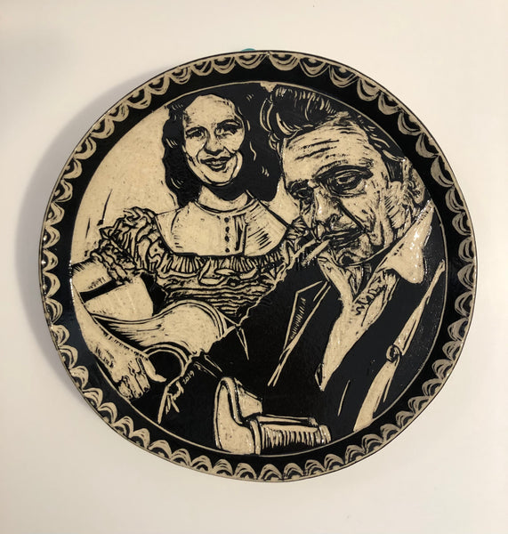 "Plate ""Kitty and Johnny"" by Carolyn Ford"