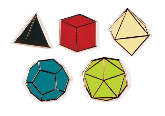 Platonic Solids 5 PIN SET