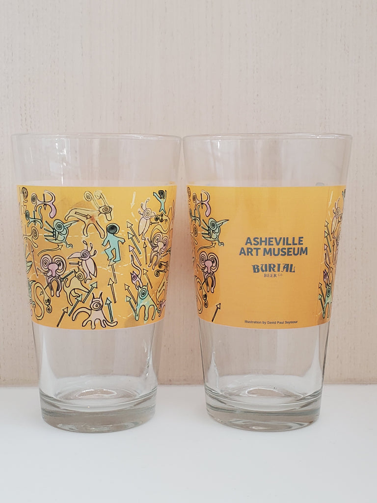 Asheville Art Museum Pint Glass