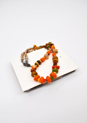Orange Turquoise Necklace