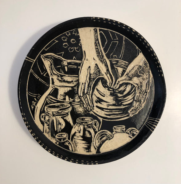"Plate - ""Throwin"" by Carolyn Ford"