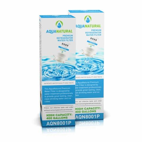 AQN8001P Refrigerator Water Filter Compatible with Maytag UKF-8001 - 2 Packs Livin' Well
