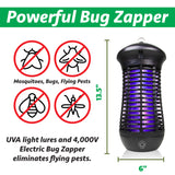 Electric Bug Zapper Mosquito Lamp - Mosquito Trap with Insect Killer Indoor /  Outdoor 4000V