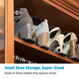 "Shoe Storage Closet Organizer Shoe Rack – ""Stack A Shoe Racks"" Double Deck Shoe Rack (Pack of 10) Livin' Well"