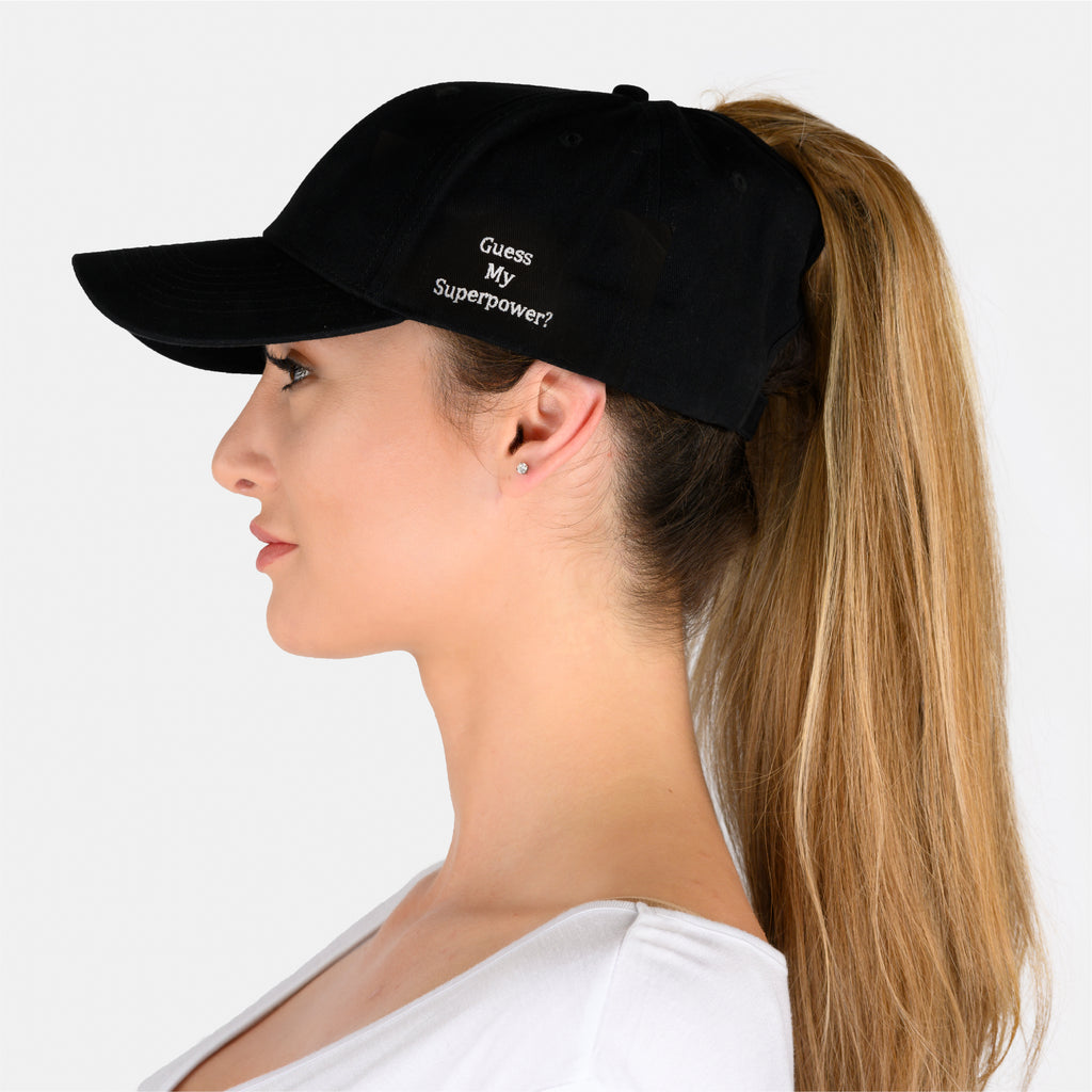 Ponytail Hat -  Guess My Superpower