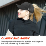 Ponytail Hat - Black