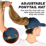 Ponytail Hat - Blue