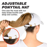 Ponytail Hat - White