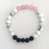 Rose Quartz Howlite Lava Quad