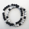 Howlite and Lava Diffuser Bracelet Set