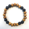 Wood and Lava Diffuser Bracelet