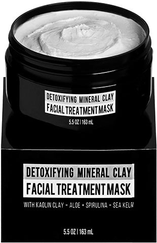 Detoxifying Mineral Clay Mens Facial Treatment Mask