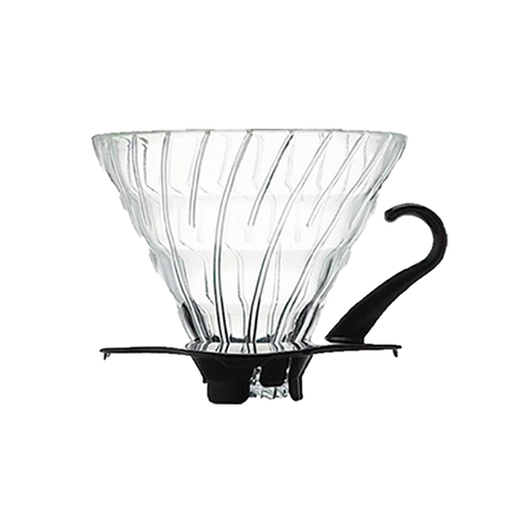 V60 Glass Dripper 02 - Black - Better Buzz Coffee