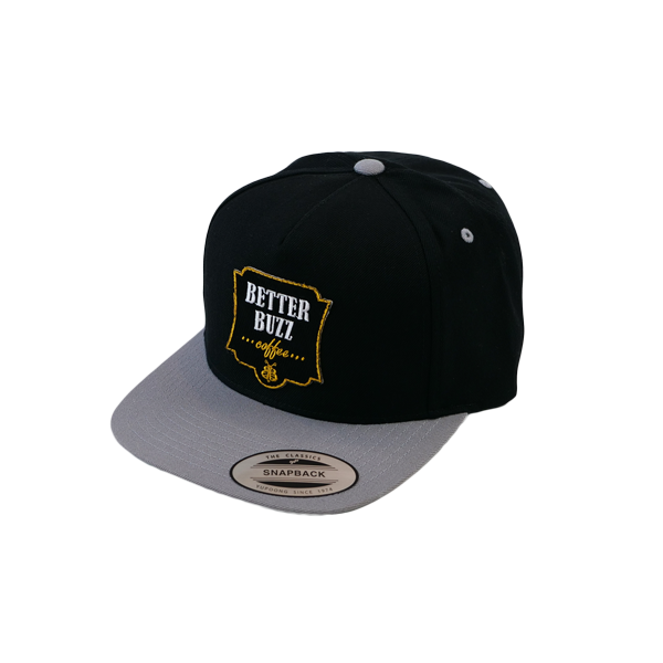 Logo Hat - Black/Grey Snapback - Better Buzz Coffee