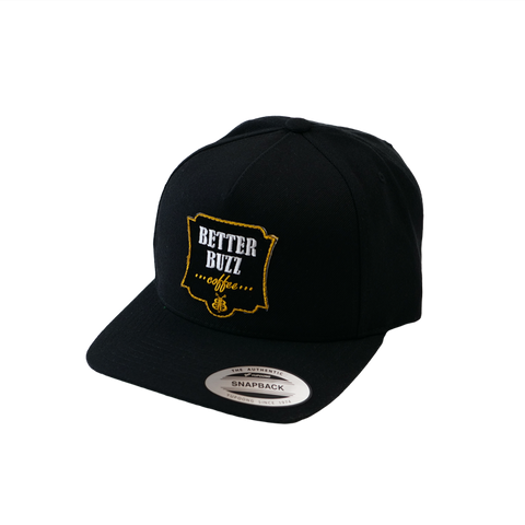 Logo Hat - Black Snapback - Better Buzz Coffee
