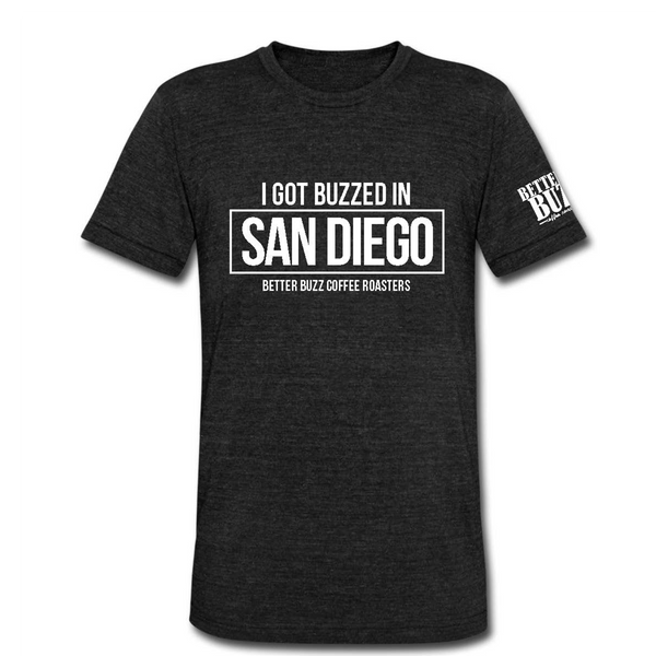 San Diego Buzzed Men's Tee - Better Buzz Coffee