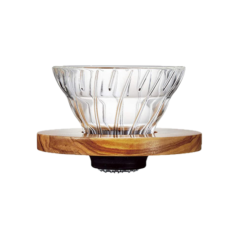V60 Glass Dripper Wood 01 - Better Buzz Coffee