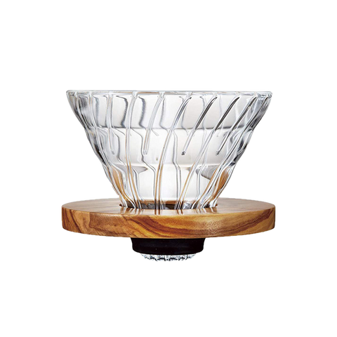 V60 Glass Dripper Wood 02 - Better Buzz Coffee