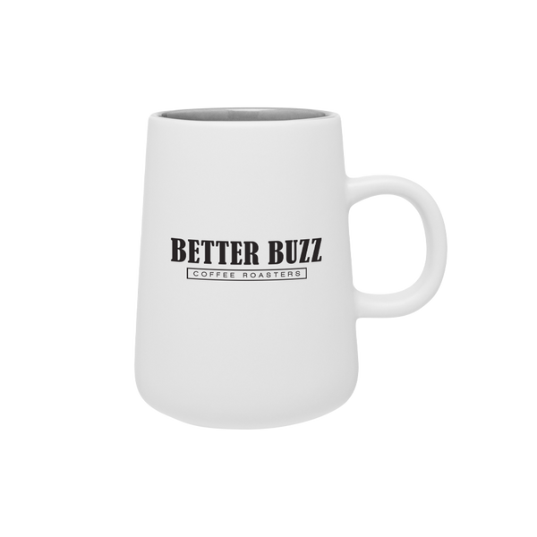 White Cafe Mug - Better Buzz Coffee