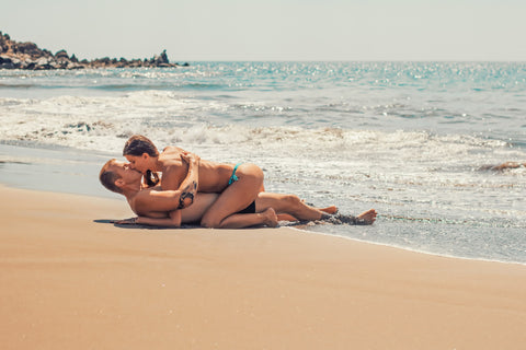 Sexytime on the beach - enjoy the feeling of your lover's skin
