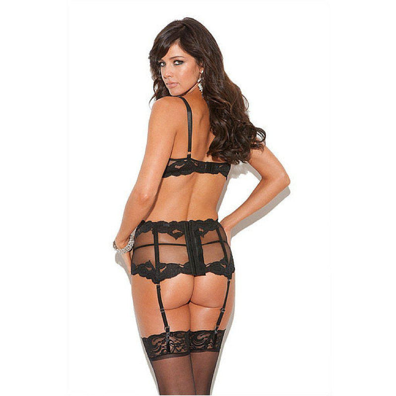 Sexy Set - Lace Bra, Panty & Garter set-Lingerie-The Love Zone